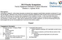 2013 DeVry University Faculty Symposium