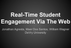 Real-Time Student Engagement Via The Web – Villanova University